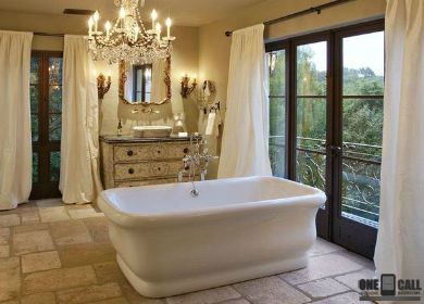 to the 1980's and do something fantastic with bathroom remodeling